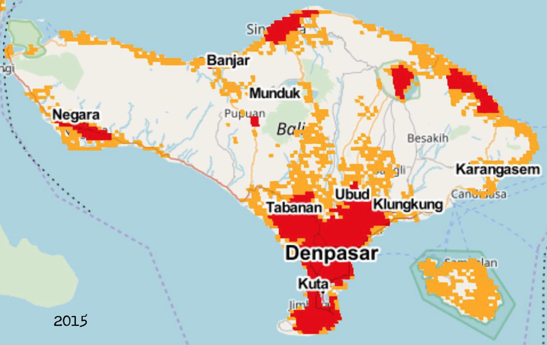 Tourism bali cartography 2000
