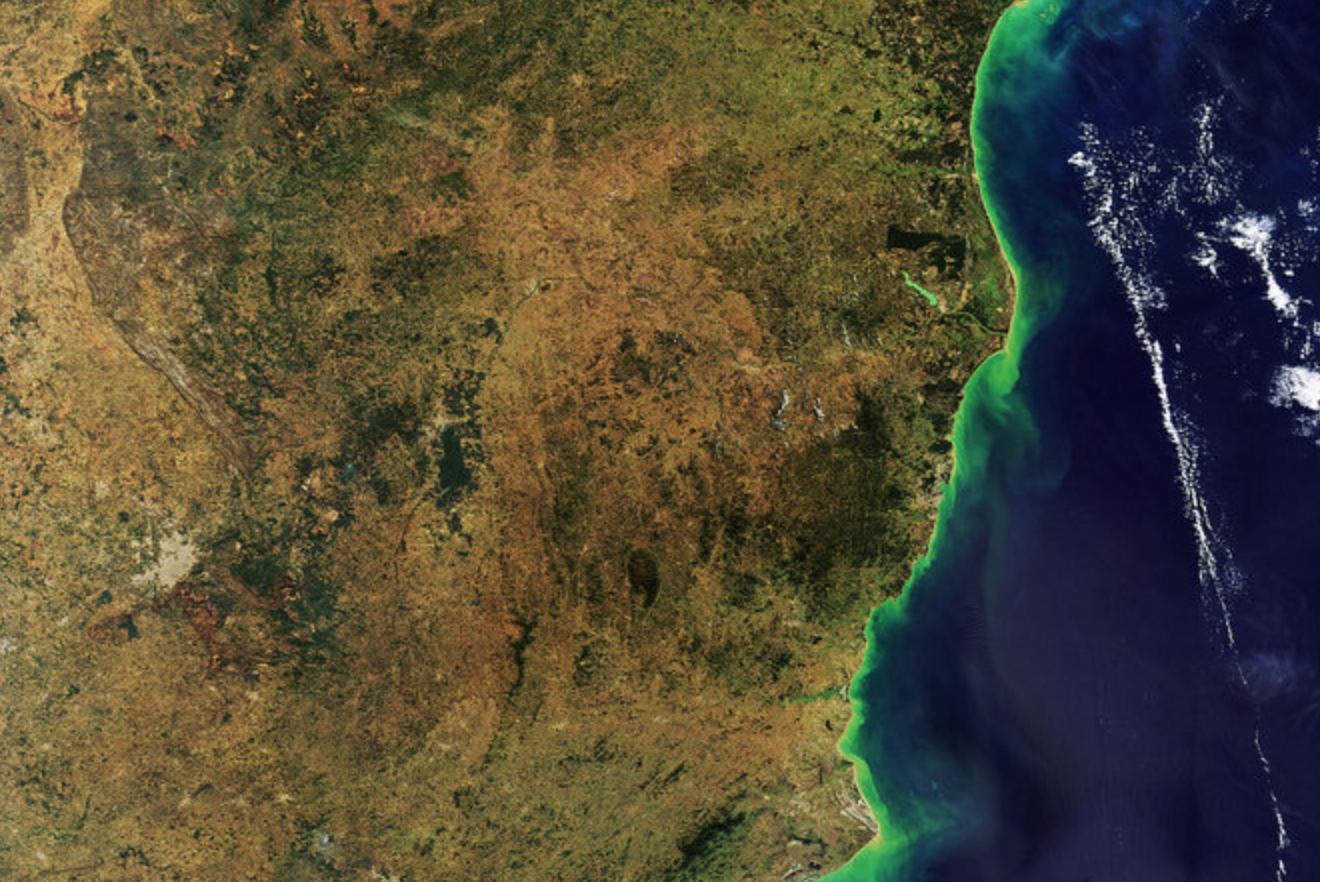 Brazilian coast ESA copyright
